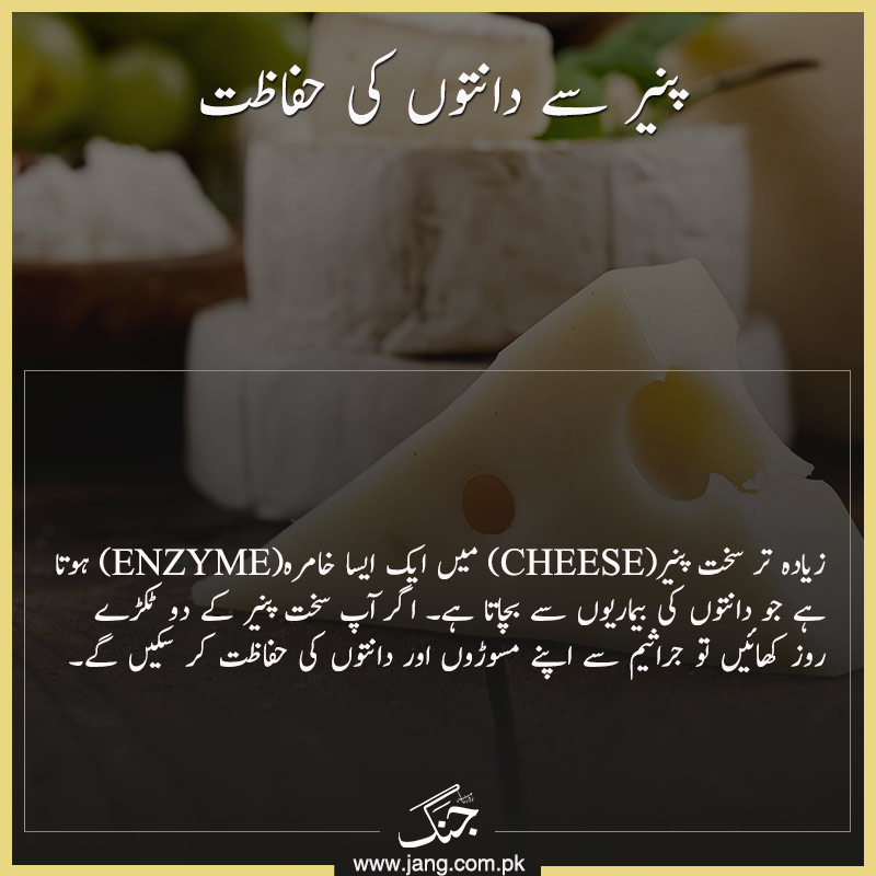 Cheese (Paneer) for Healthy Teeth and Gums