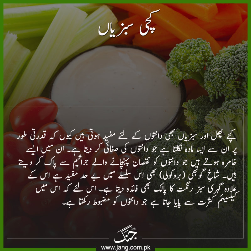 Eat Raw Vegetables for Healthy Teeth and Gums