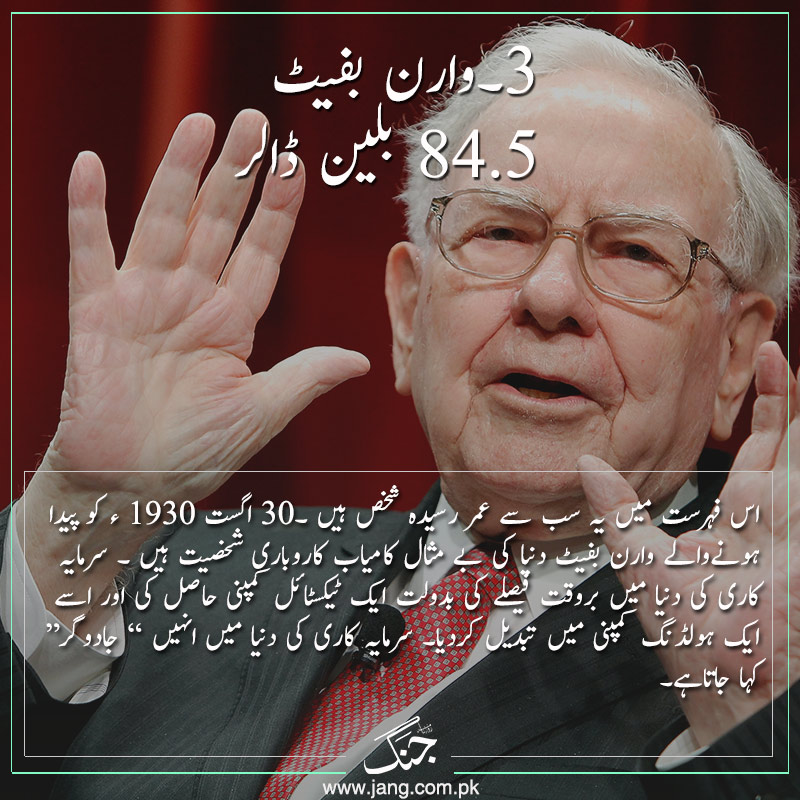 One of the top 5 richest personalities warren buffet