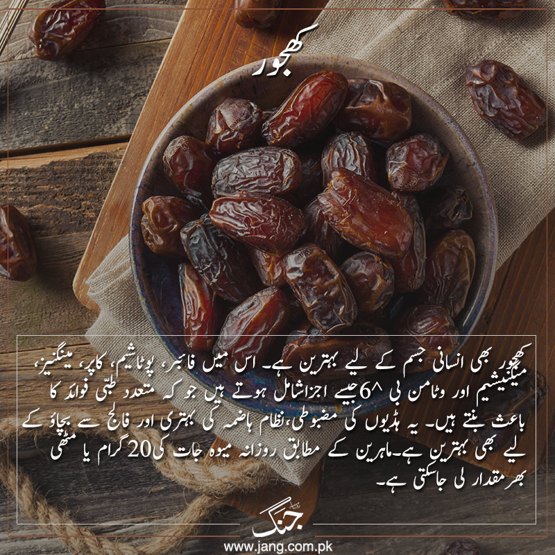 Dates for a fit and healthy life