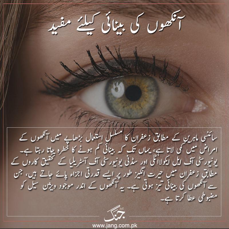 Saffron is good for eyesight
