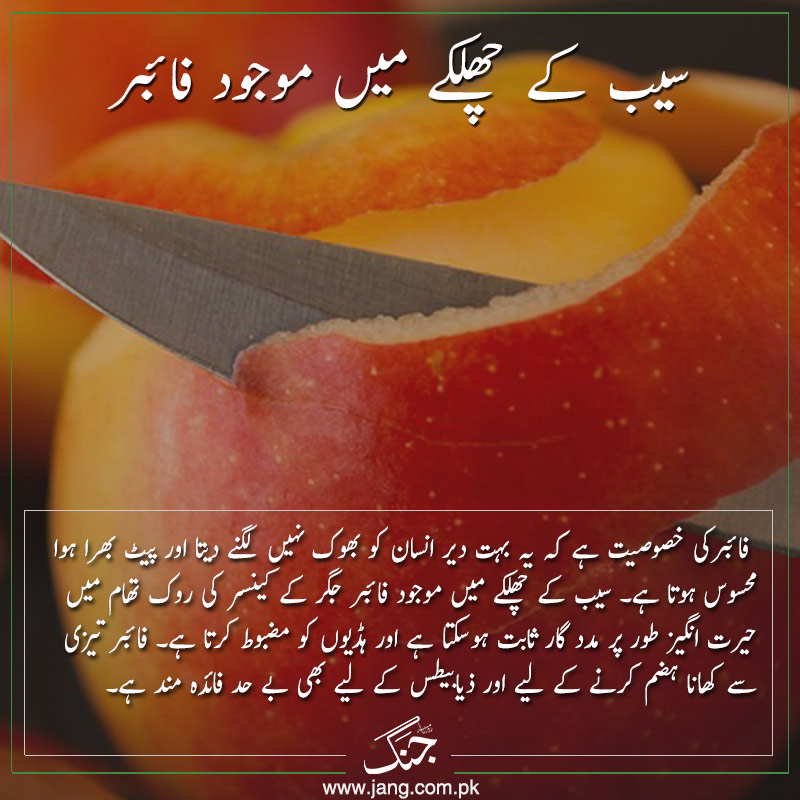 Apple peel contains fiber