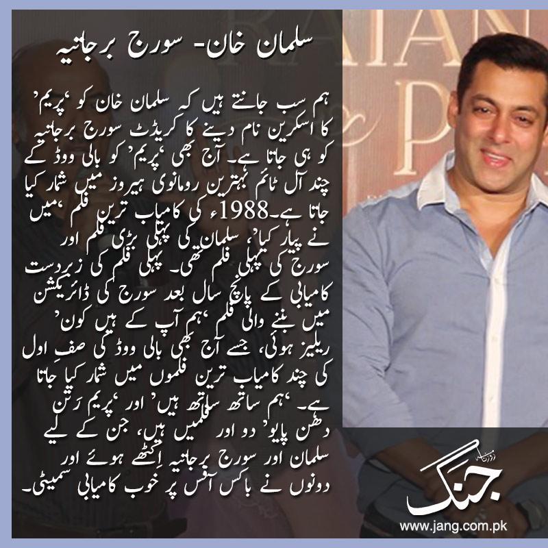 salman khanand sooraj bollywood's successful actor director duo