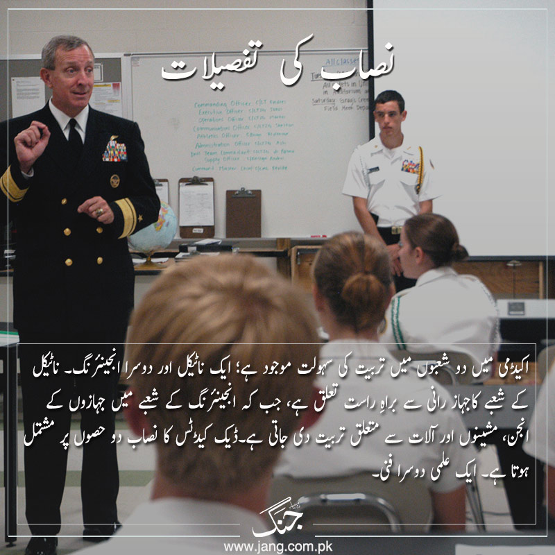 Subjects in naval services