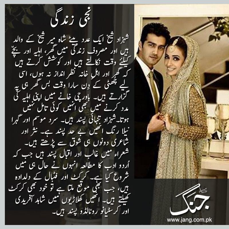 shehzad shiekh personal life