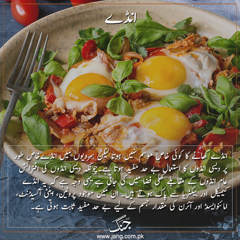 Eggs super food of winter