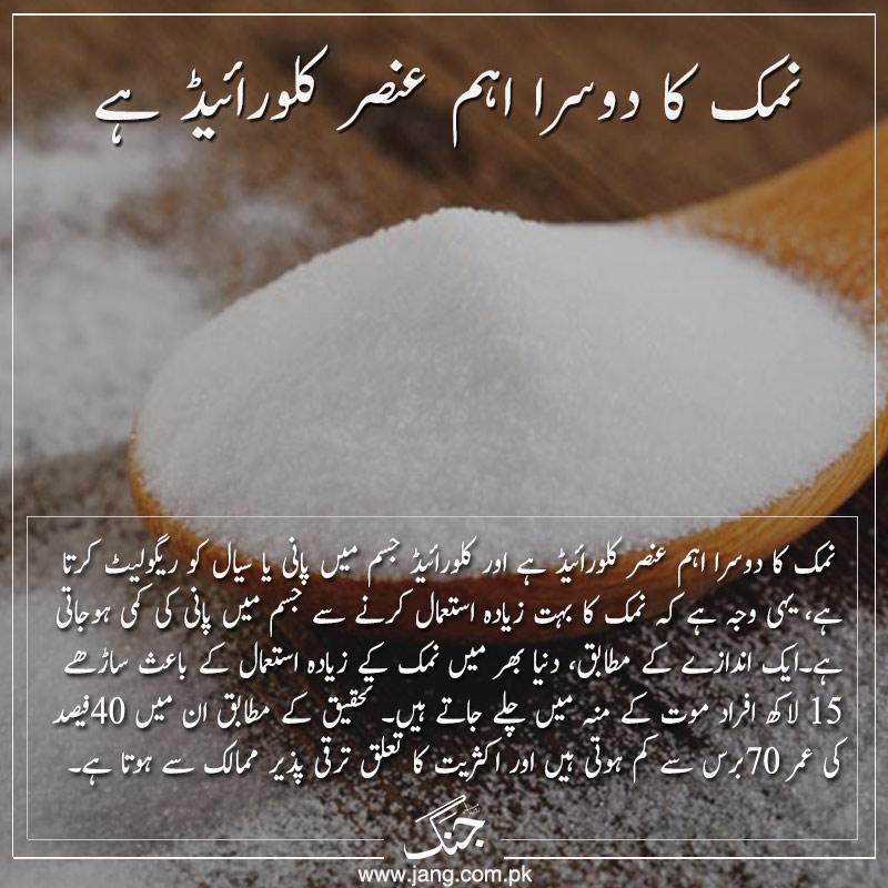 Salt contains chloride